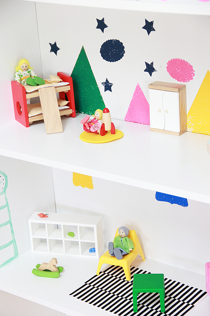 Dollhouse Bookcase Diy: A Bubbly Life: DIY Dollhouse Bookcase With #GiveaHome