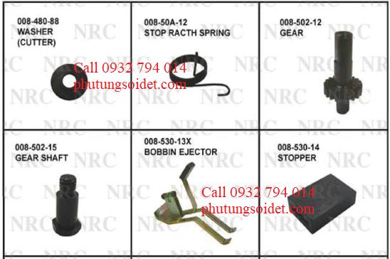 Gear 008-502-12 Gear Shaft 008-502-15 Bobbin Ejector 008-530-13X Stopprt 008-530-14 Lever (Release) 008-540-11X Cam (Gate Feeler) 008-540-16