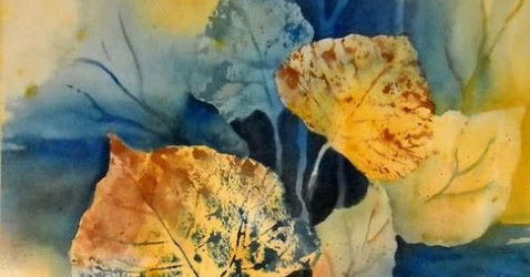 Paper Artsy 2017 Challenge #5 - Blue and Ochre