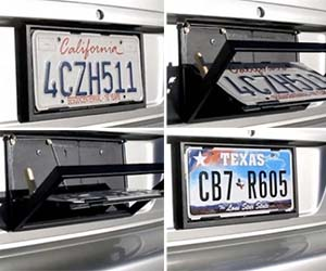 Pull off the bank heist of the century and still make it back in time for supper when you use the license plate flipper to help evade the fuzz. The plate flipper works great for displaying multiple license plates and makes an excellent modification for aspiring getaway drivers.