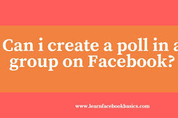 Can i create a poll in a group on Facebook?