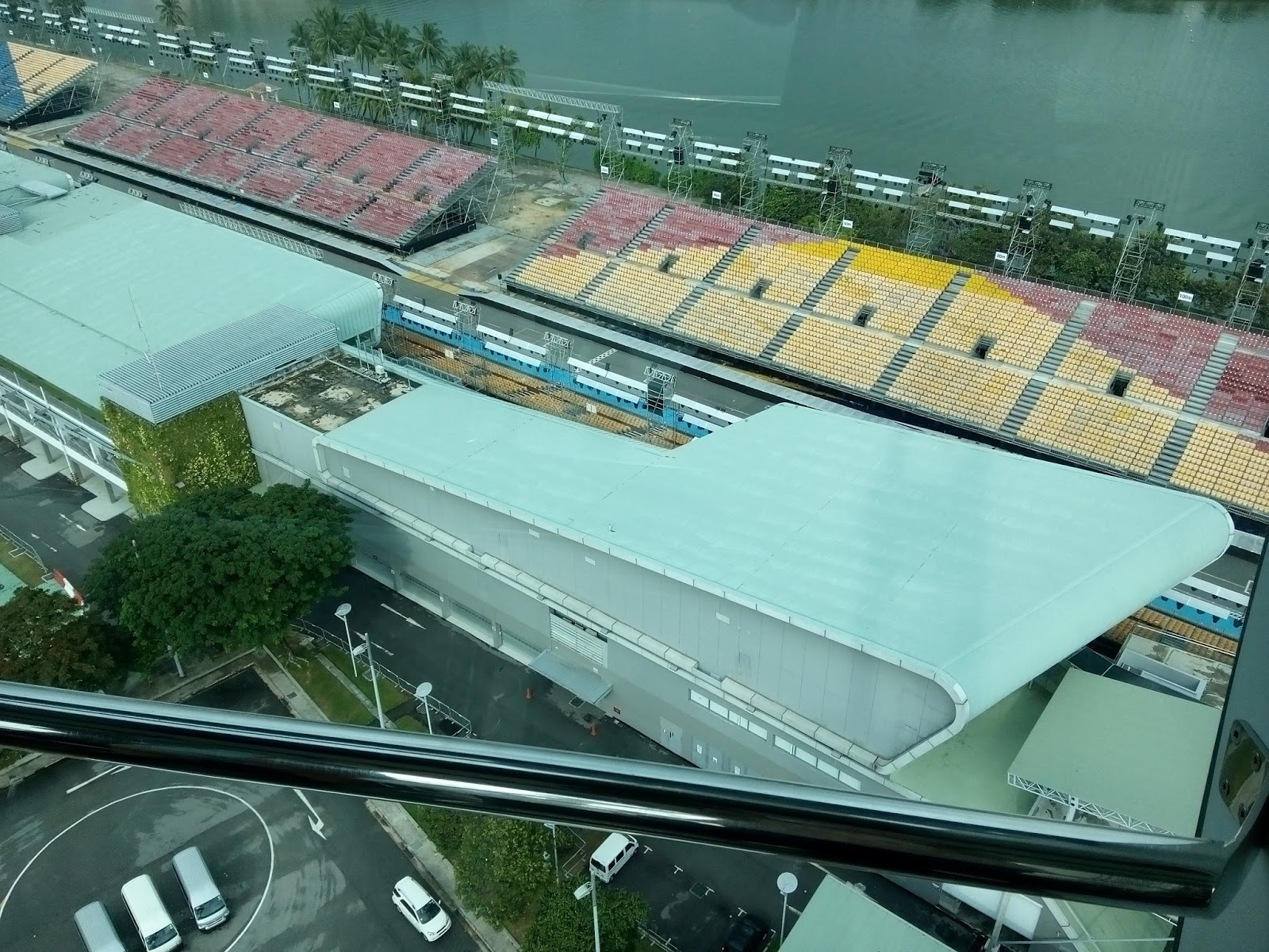 for example if you look at the direction of marina bay street circuit then on that side of the glass there will be an explanation about that