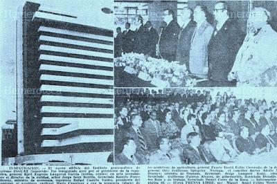 EN 1977 INAGURAN EDIFICIO DEL INGUAT