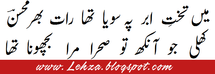 Tujhe Udas Bhi Karna Tha Khud Bhi Rona Tha By Mohsin Naqvi