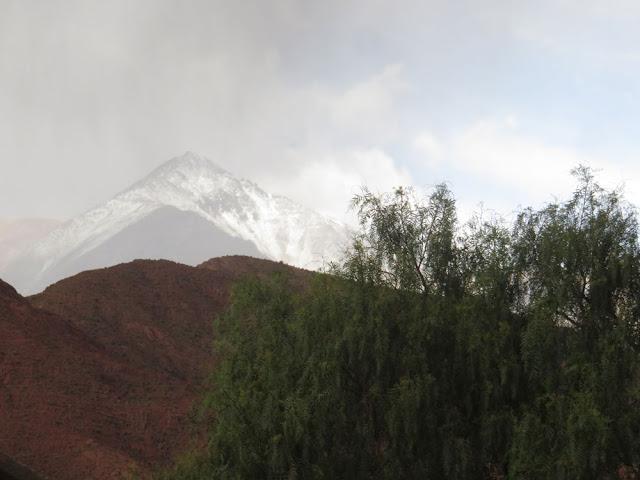 Der Regen heute hat den Minenberg geweisselt.