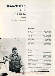 Humanoides del Abismo / Guía publicitaria CB Film / 01