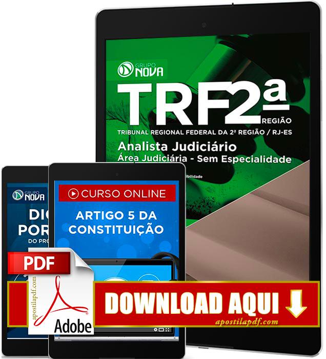 Apostila TRF 2 Região 2016 PDF Download Analista Judiciário Área Judiciária