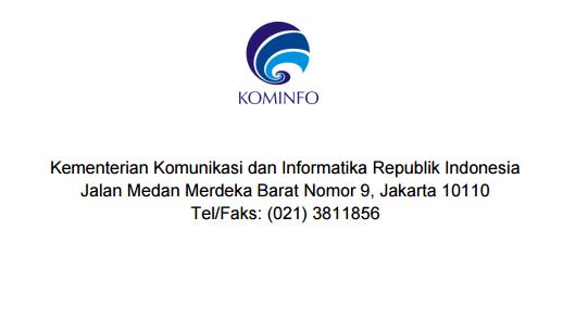 Rekrutmen Komisi Penyiaran Indonesia Pusat Kementerian Komunikasi dan Informatika