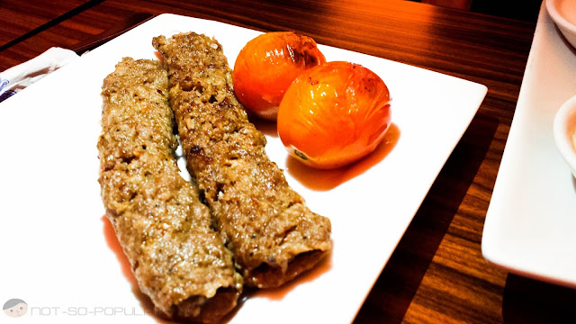 Persia Grill's Beef Kebabs and Grilled Tomatoes