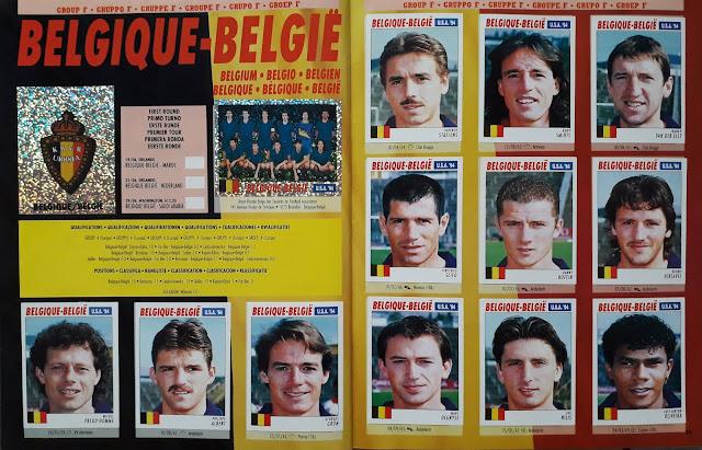 USA 94 WORLD SOCCER CHAMPIONSHIP GROUP F BELGIQUE-BELGIE