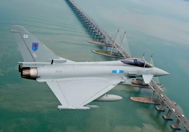 Eurofighter Typhoon of Royal Air Force in Malaysia