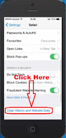 how to delete search history on safari on iphone