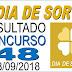 Resultado do Dia de Sorte concurso 48 (08/09/2018) ACUMULOU!!!