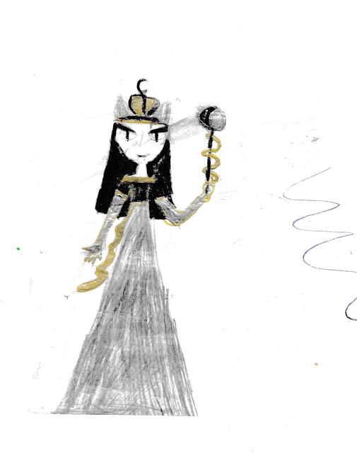 """детский рисунок """"принцесса сумерек и ночи"""""""