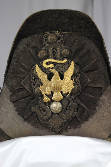 Before treatment photo of military chapeau c. 1832. The hat would be conserved by textile expert Gwen Spicer at Spicer Art Conservation. SAC conserves and preserves military antiquities, collectibles and memorabilia