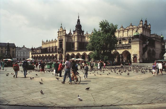 Cracovie, Rynek Główny, Place du Marché, © L. Gigout, 1990