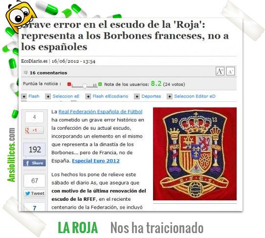 Chiste Eurocopa: Error del Escudo de España
