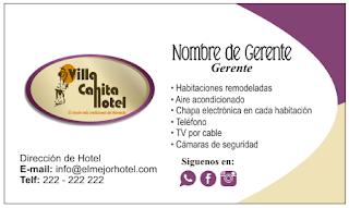 Tarjetas de visita para hoteles