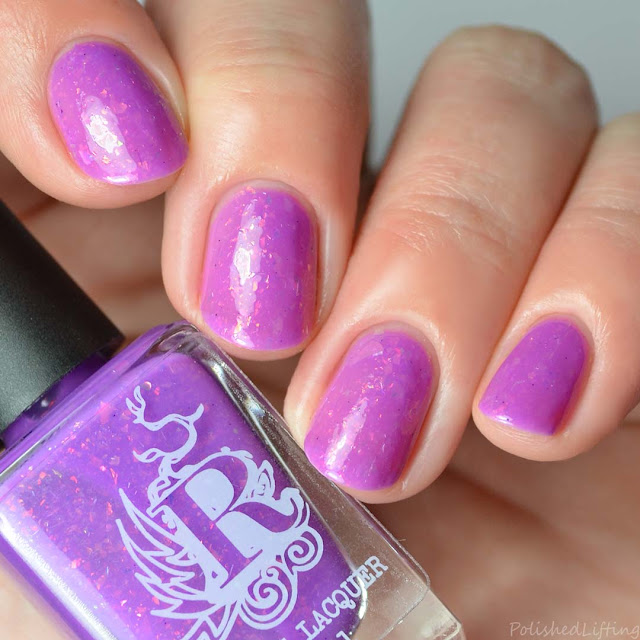 neon purple flakie nail polish