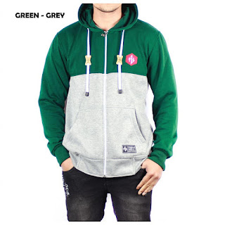 JAKET FLEECE PRIA TPHZ GREEN GREY