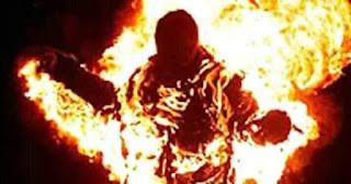 شاهد تفاصيل الإعدام لمواطن قام بحرق زوجتة فى سوهاج
