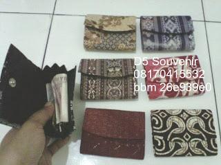 souvenir dompet batik kecil, souvenir khas jogja