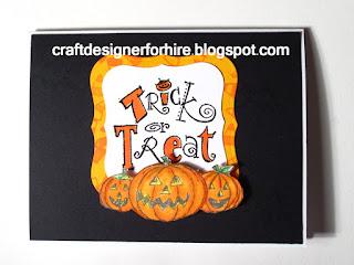 Trick or Treat Jack O Lantern Halloween Card