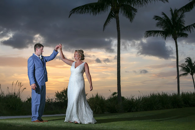 Sunset wedding photographs on Captiva Island