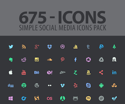 أيقونات لمواقع التواصل الاجتماعي PSD 01_Social_meida_icons