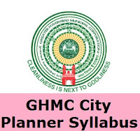 GHMC Deputy City Planner Syllabus