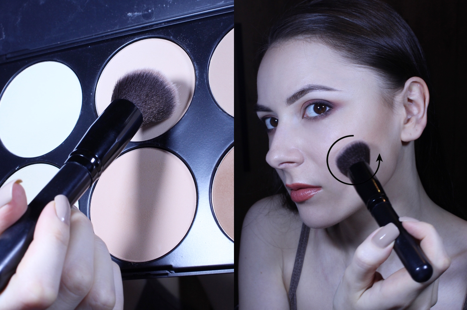 before after contouring guide powder sculpting beginners guide makeup blogger