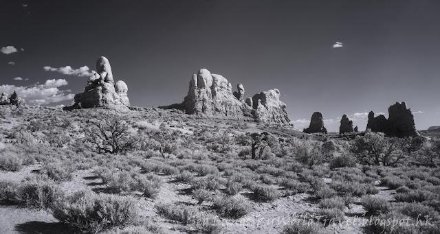 紅外線攝影, 相片, 照片, 美國拱門國家公園, arches national park, infra-red photography, photo