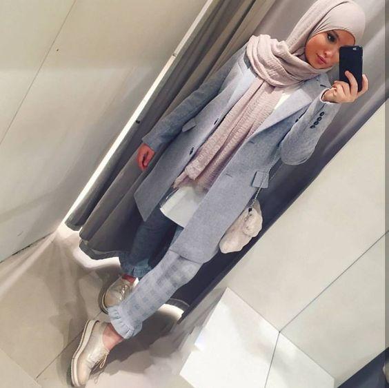 3 styles hijab tendance pour jeune fille, un style sobre et élégant à base  de robe hijab longue afin d\u0027être conforme à la tendance et style hijab 2019.
