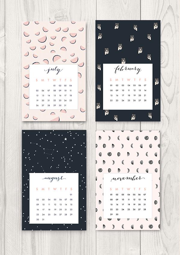 free printable 2015 calendar 無料で使えるおしゃれな2015年