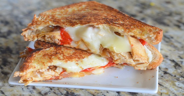 Havarti Chicken Fajita Grilled Cheese Sandwich Recipe