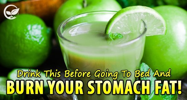 Drink This Before Going To Bed And Burn Stomach Fat Instantly!
