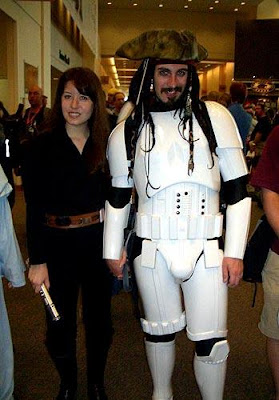 Stormtrooper de star wars y jack sparrow