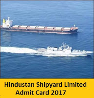 Hindustan Shipyard Limited Admit Card