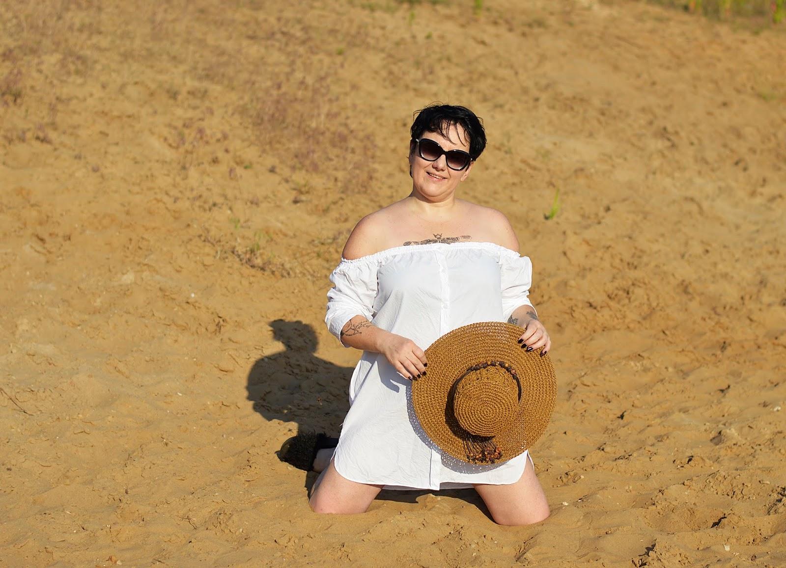 White shirt, zara shirt, słomkowy kapelusz, summer look