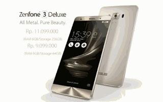 Harga Dan Spesifikasi Asus Zenfone 3 Deluxe