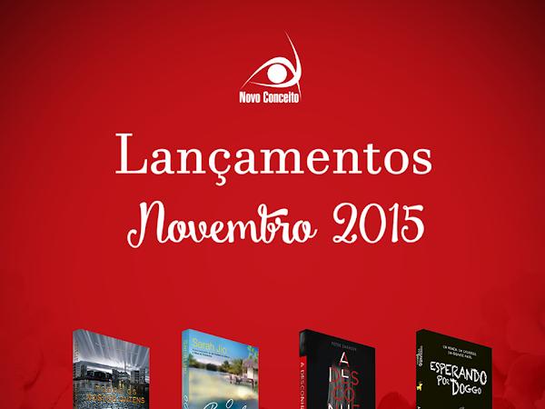 Lançamentos de Novembro/2015 da Editora Novo Conceito