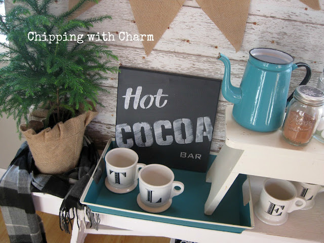 Chipping with Charm: Faux Chalkboard Canvases Old Signs Stencils...www.chippingwithcharm.blogspot.com