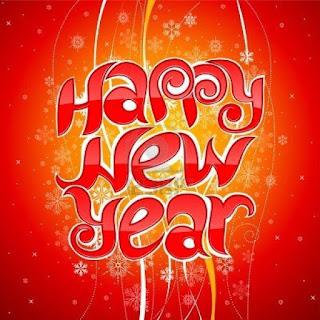 New Year Greetings Card Handmade