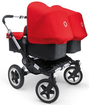 Pink Double Stroller Travel System