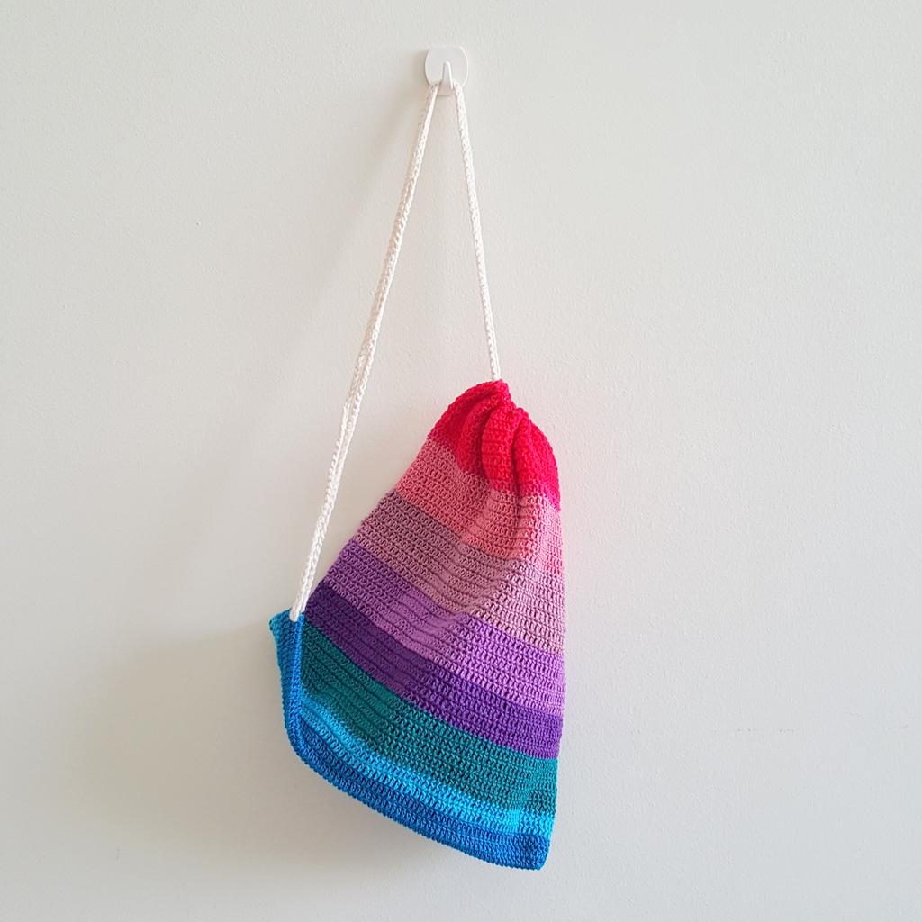 Double Crochet Drawstring Bag Craft Ni Kim