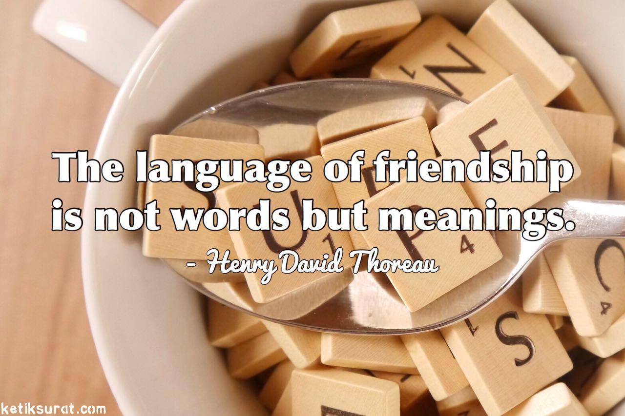 Kata Kata Mutiara Untuk Sahabat Dalam Bahasa Inggris Dan