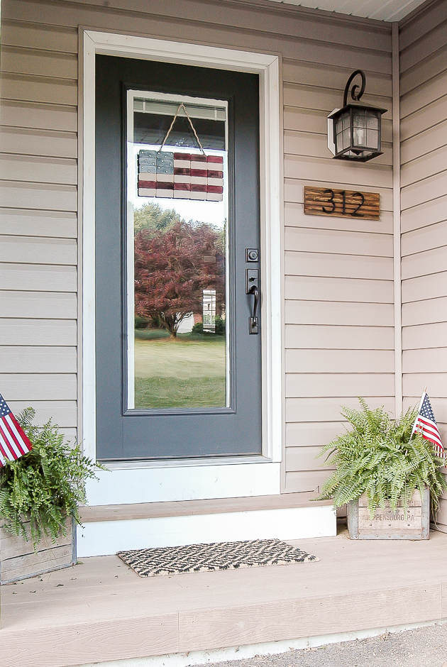Patriotic front porch