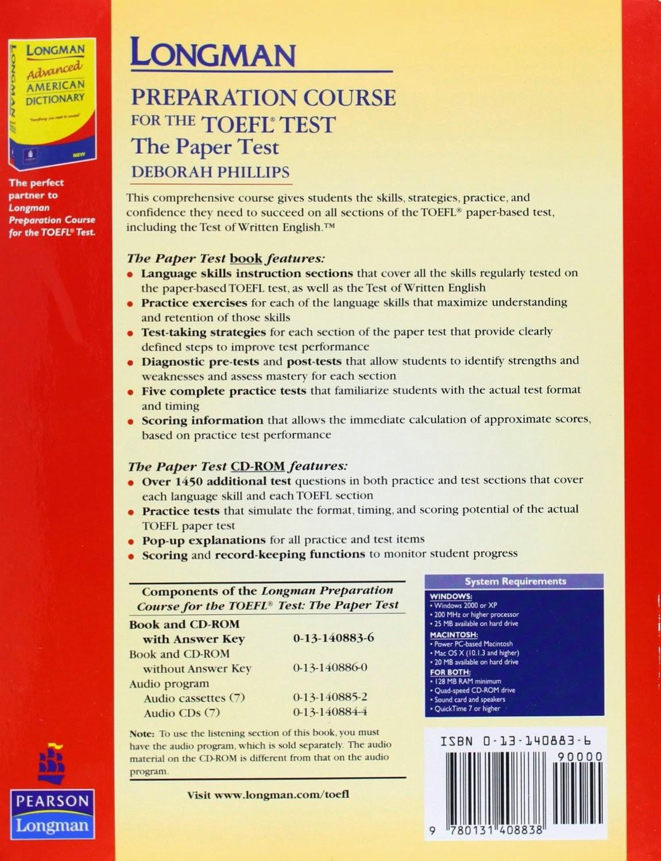 كتاب longman preparation course for the toefl test: the paper test