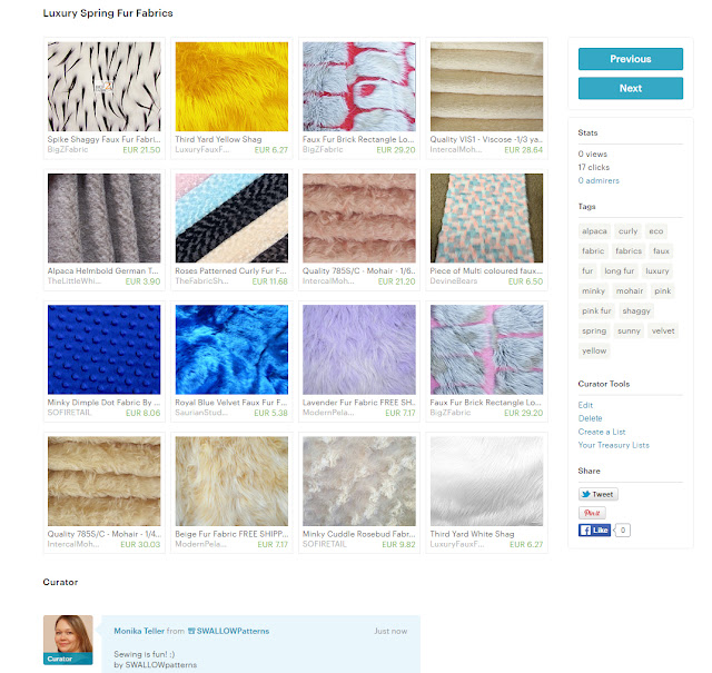 Spring Fur fabrics Treasury