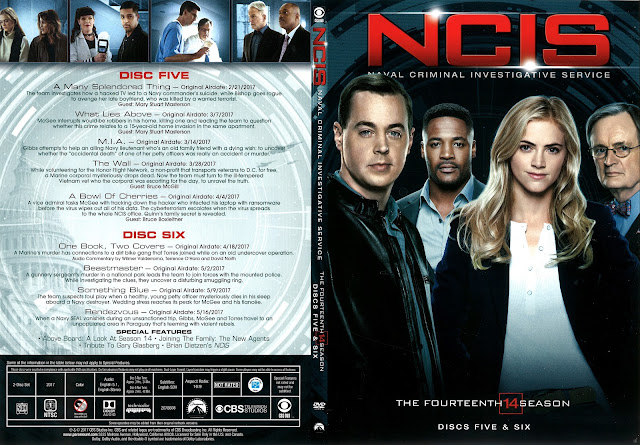 NCIS Season 14 Discs 5 & 6 DVD Cover